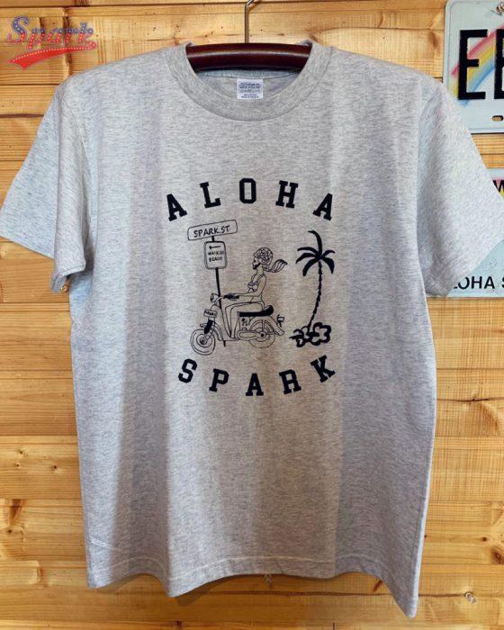 SPARK NEW バイクロコガールTシャツ(アッシュ)