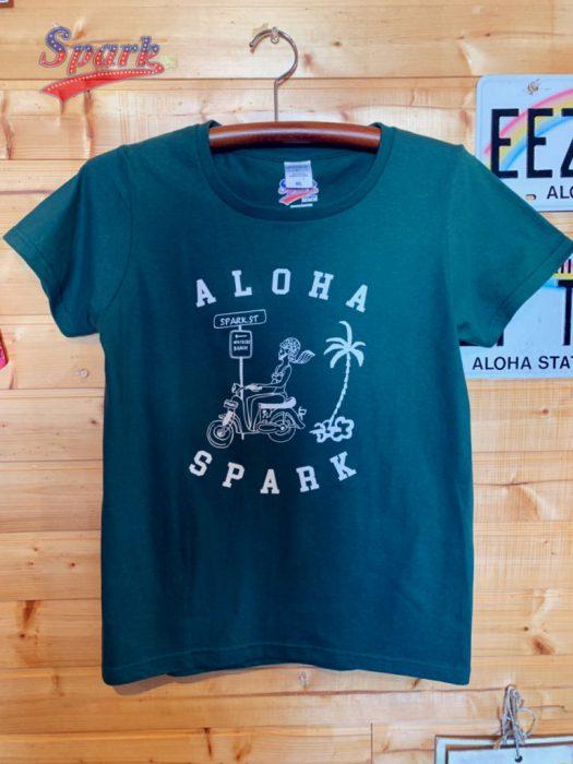 SPARK NEWバイクロコガールTシャツ(アイビーグリーン)