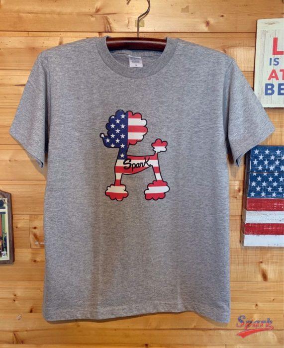 アメリカンプードルTシャツ(グレー)