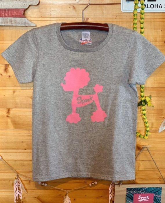 ピンクプードルTシャツ(グレー)