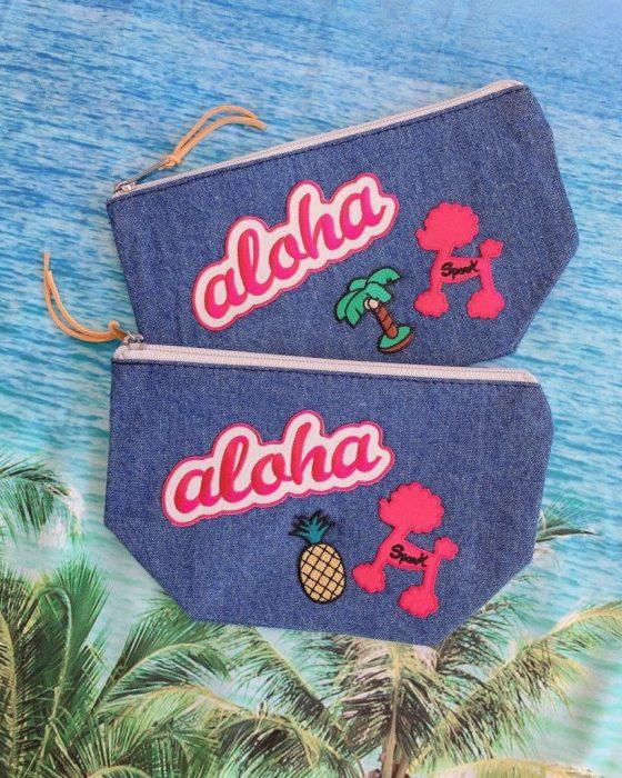 alohaプードルデニムポーチ